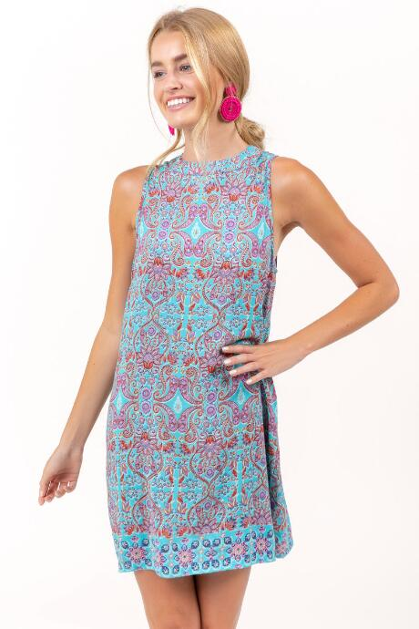 Eleanor Paisley Shift Dress