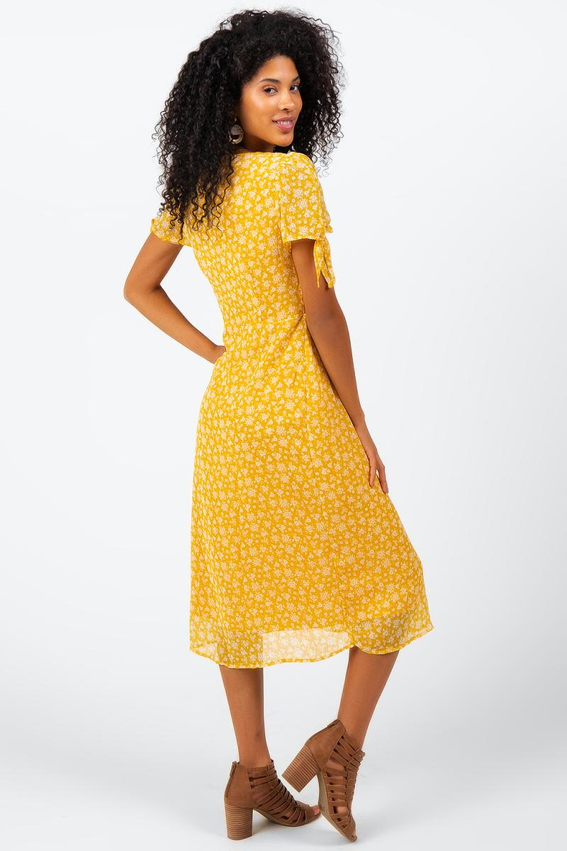 Havana Floral Midi Dress-Sunshine 2