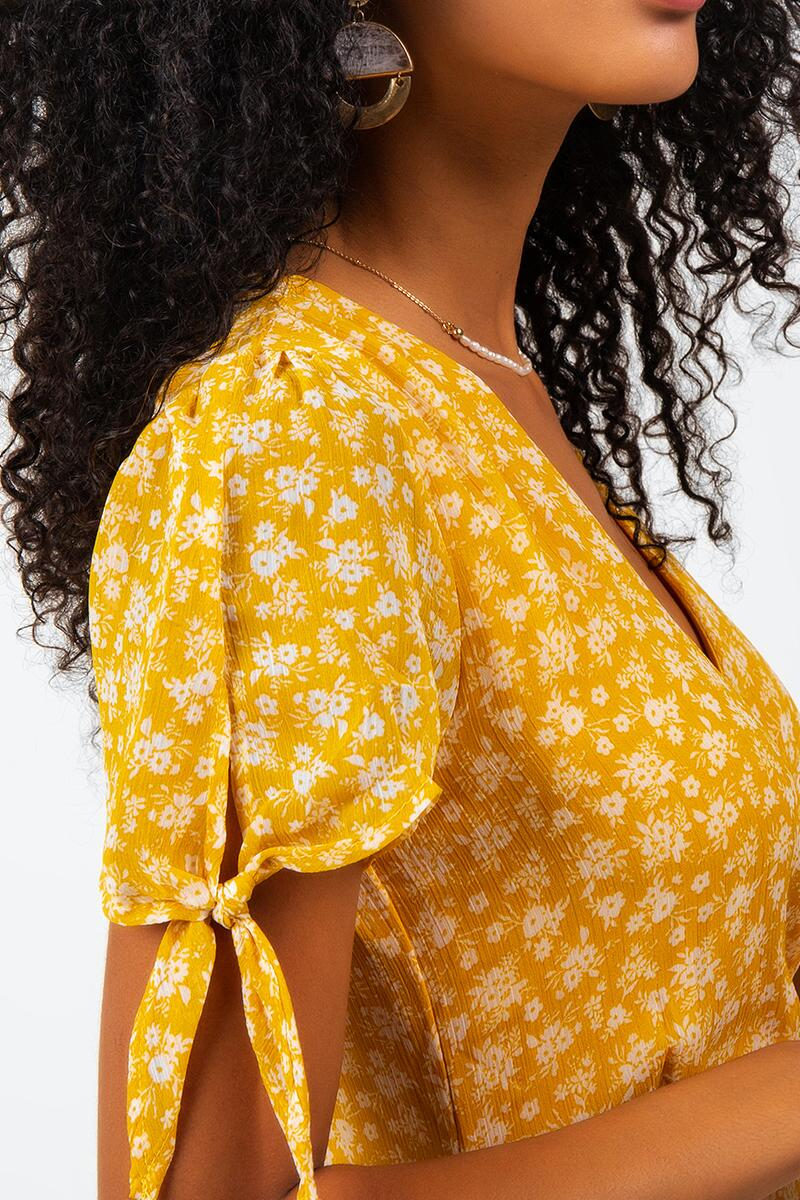 Havana Floral Midi Dress-Sunshine 4