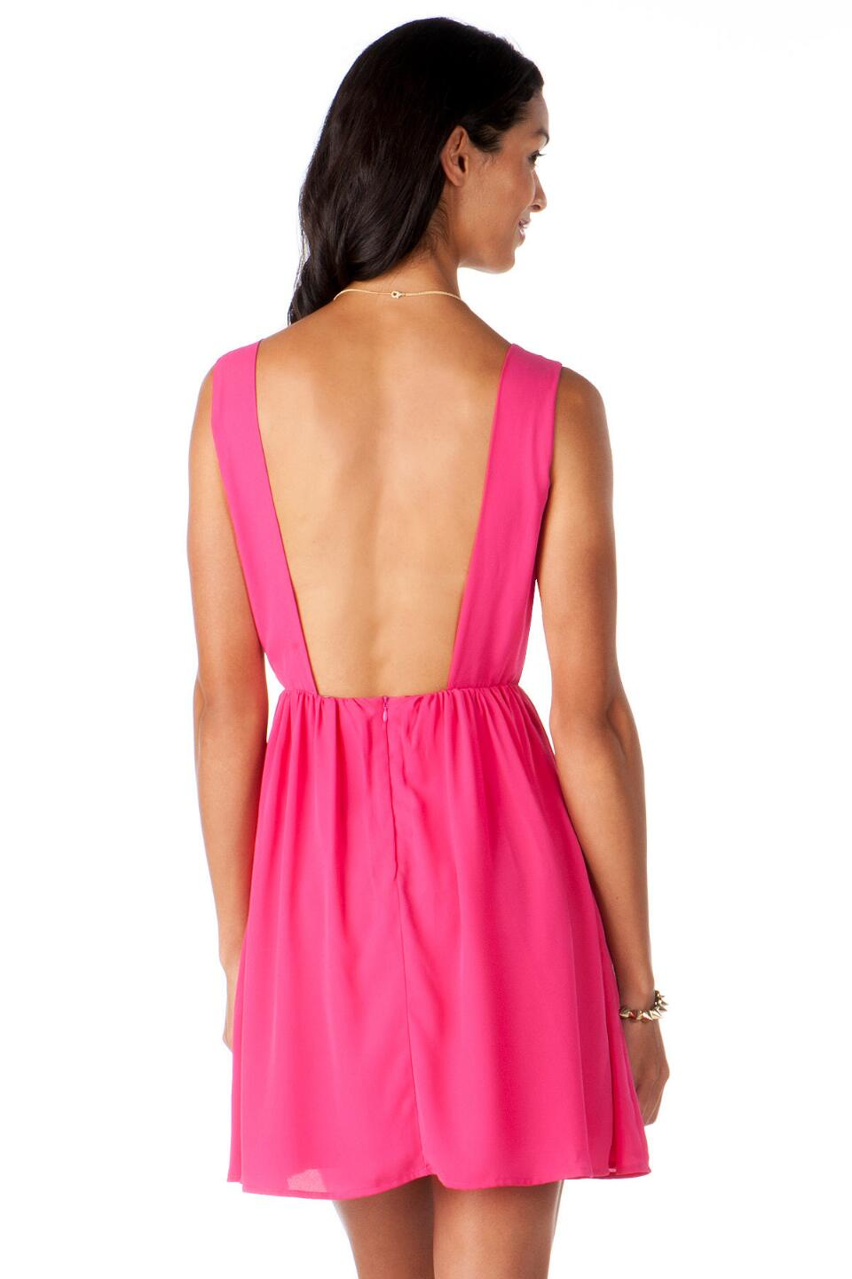 Meadowlake Mesh Dress-  fush-clback
