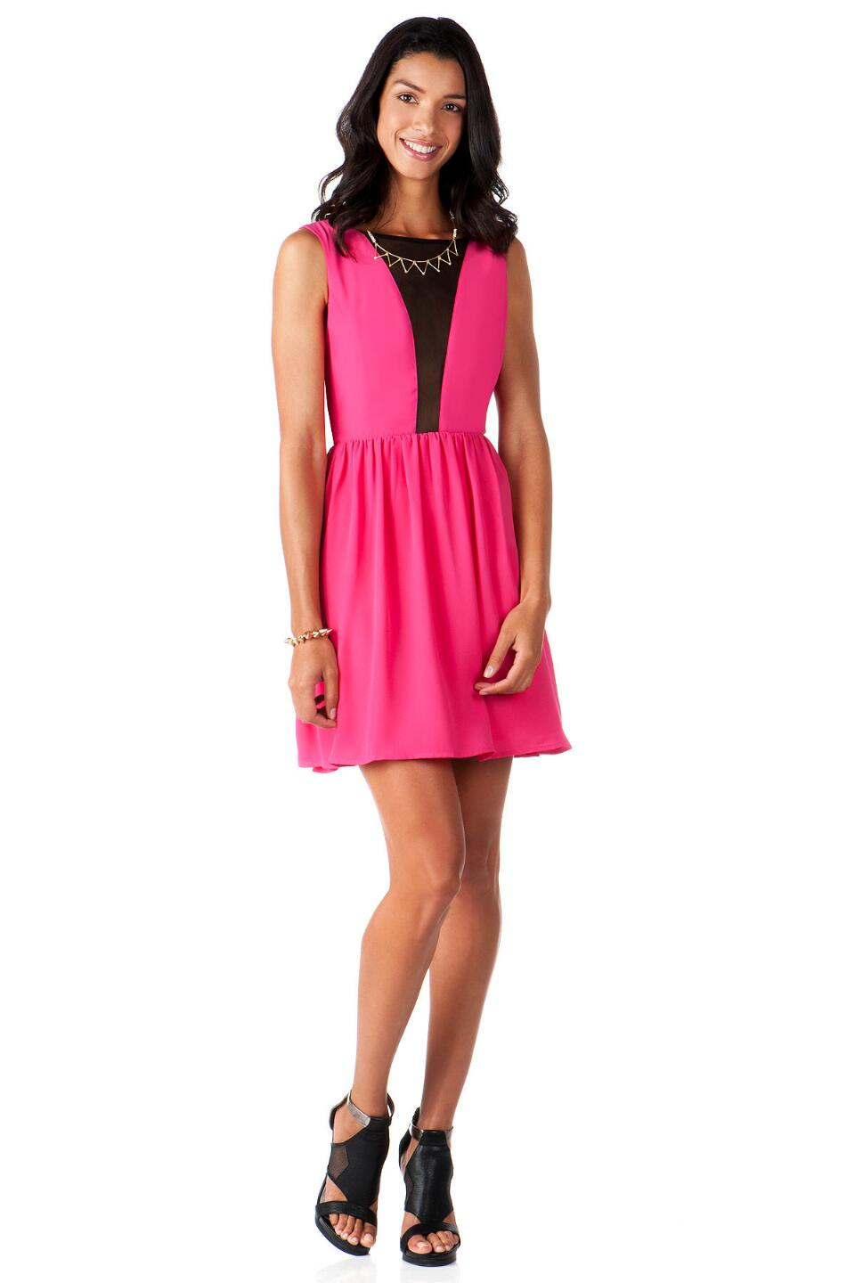 Meadowlake Mesh Dress-  fush-clmodel
