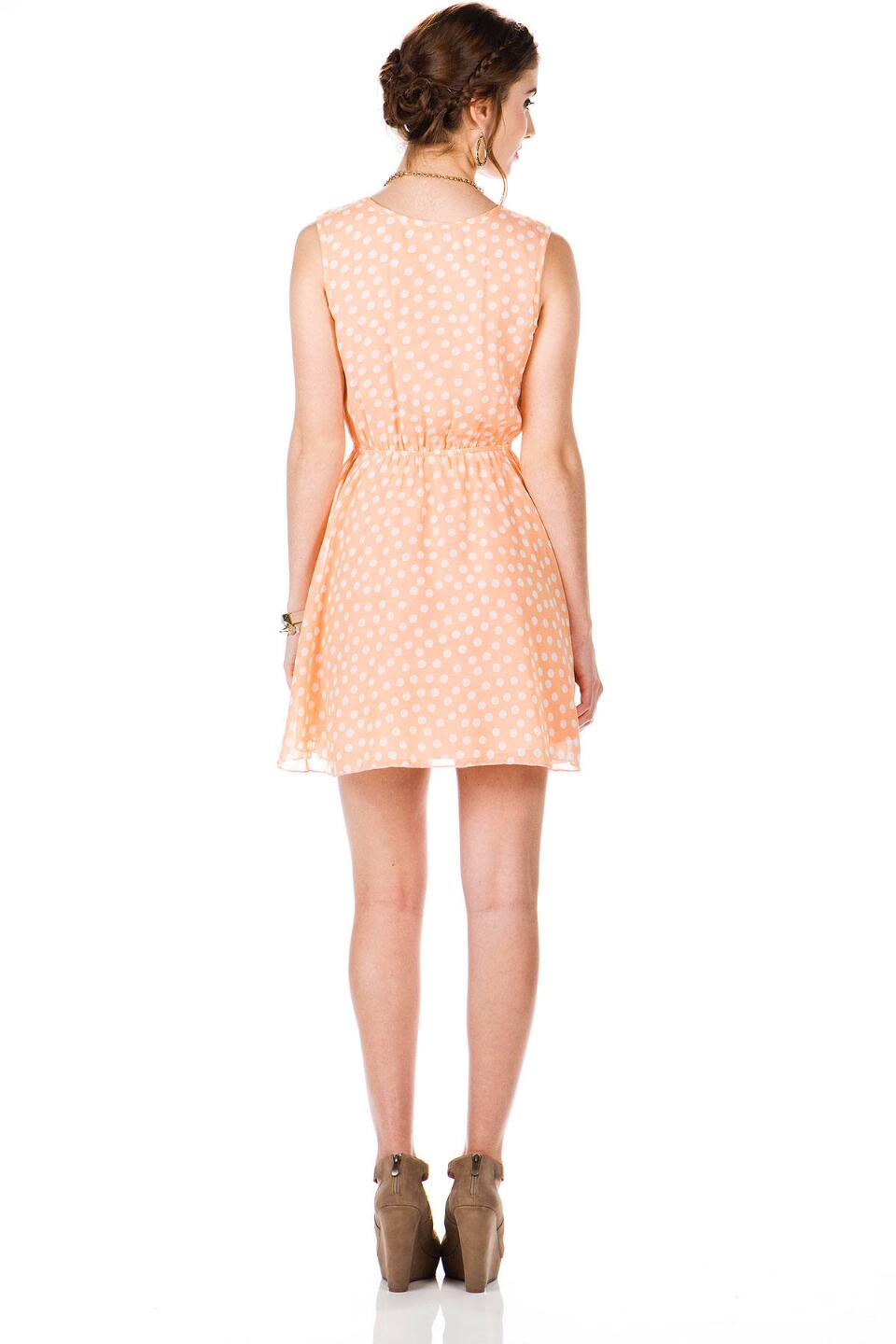 Atlanta Polka Dot Dress-  peac-clback