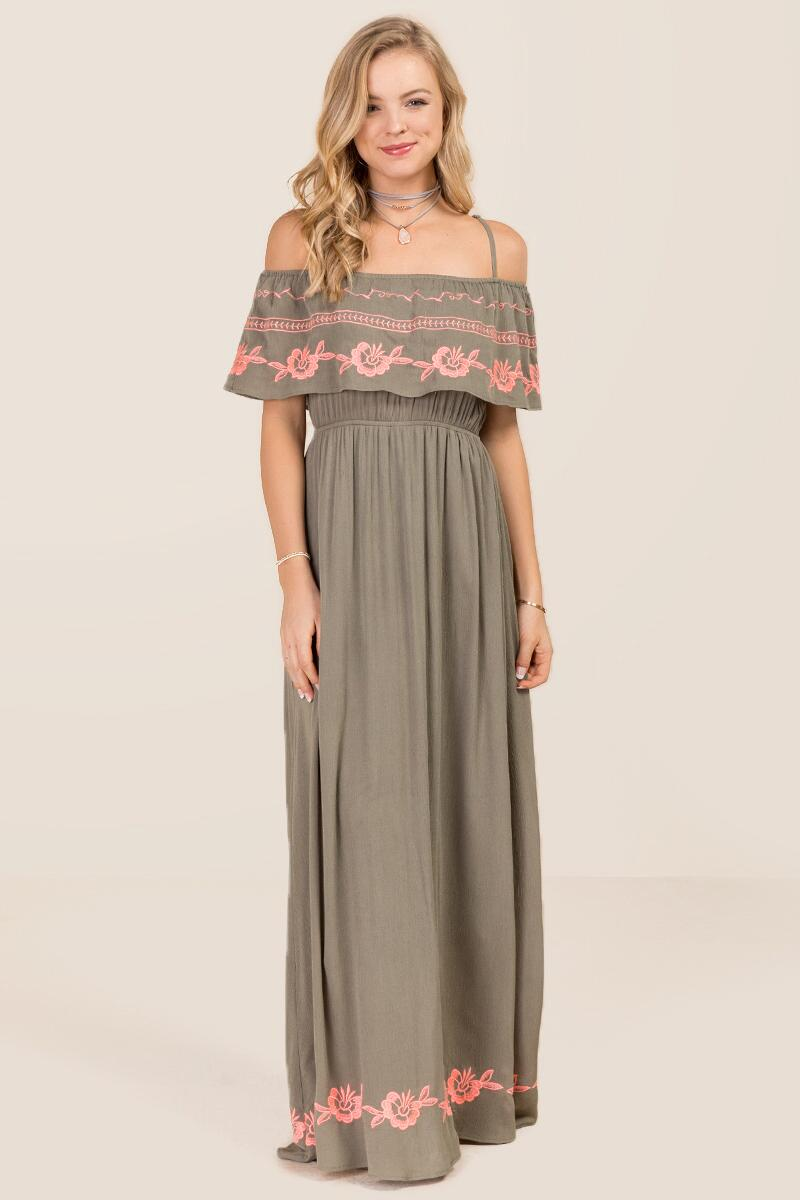 Khloe Embroidered Maxi Dress