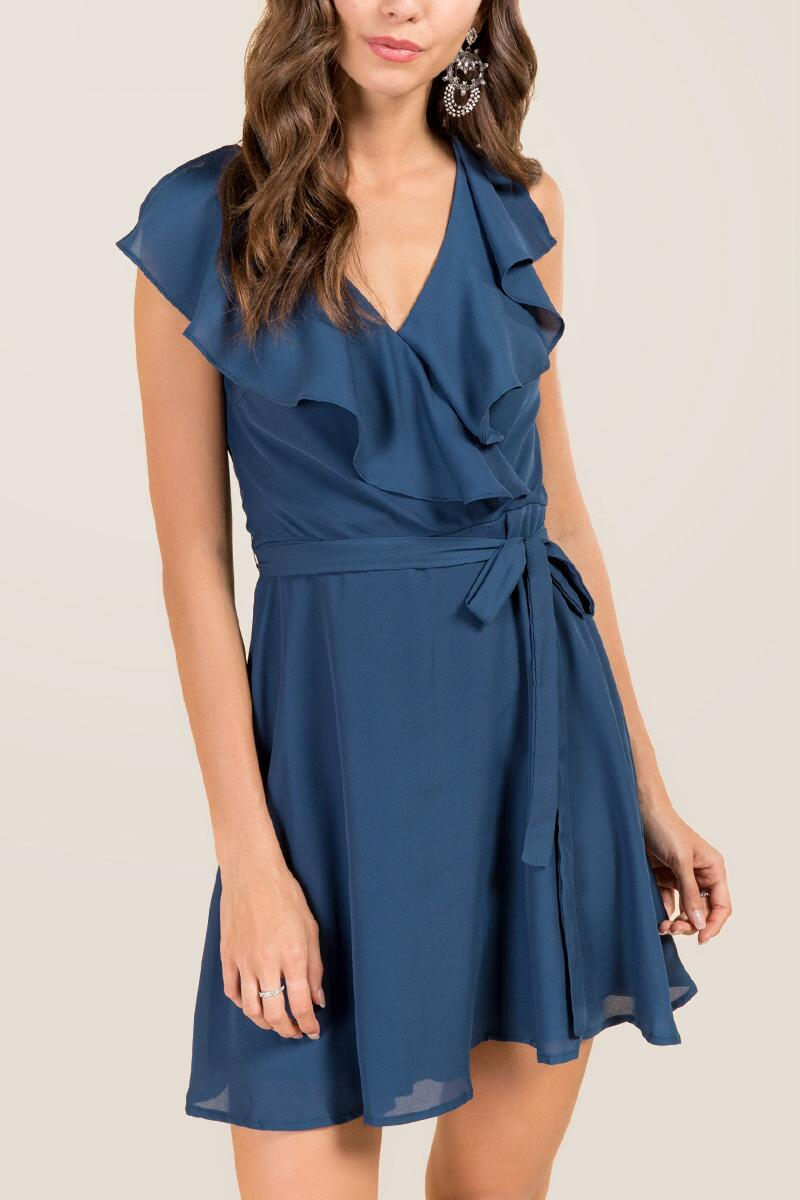 Cecilia Ruffle Wrap Dress