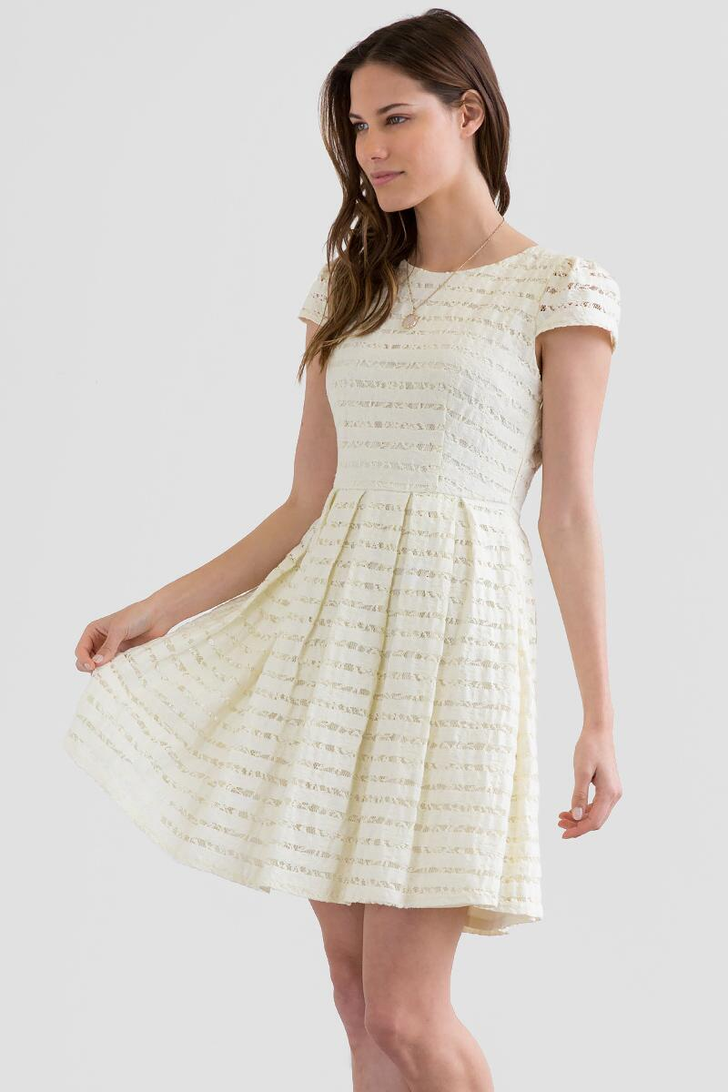 Starla Striped Lace Dress-  ivry-cl