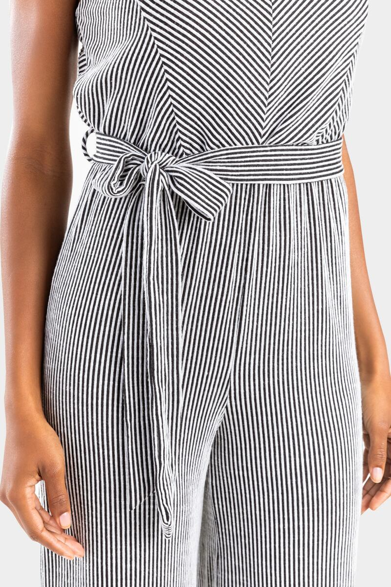 Avelle Striped Side Knot Jumpsuit-  bkw-cl4