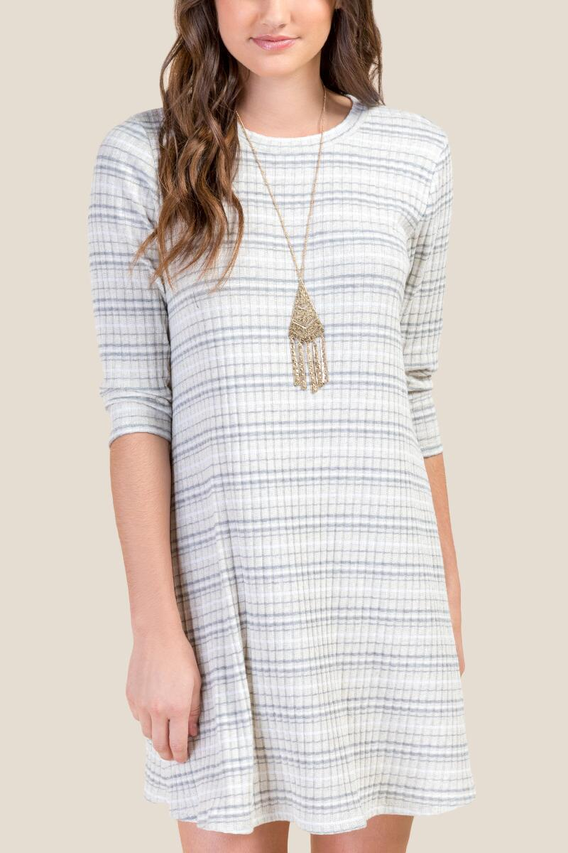 Natalie Striped Shift Dress