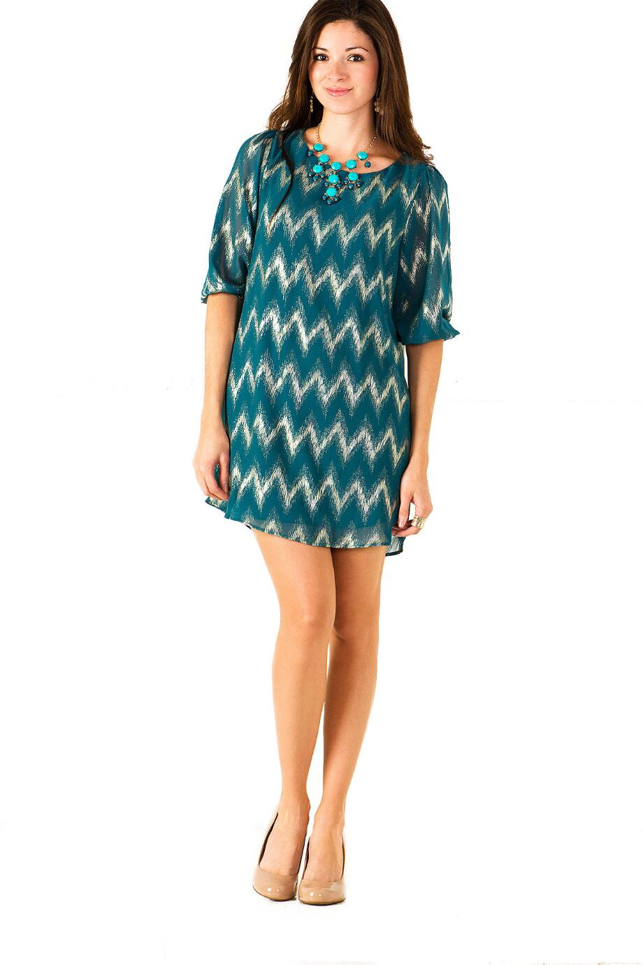 Dublin Zig Zag Shift Dress