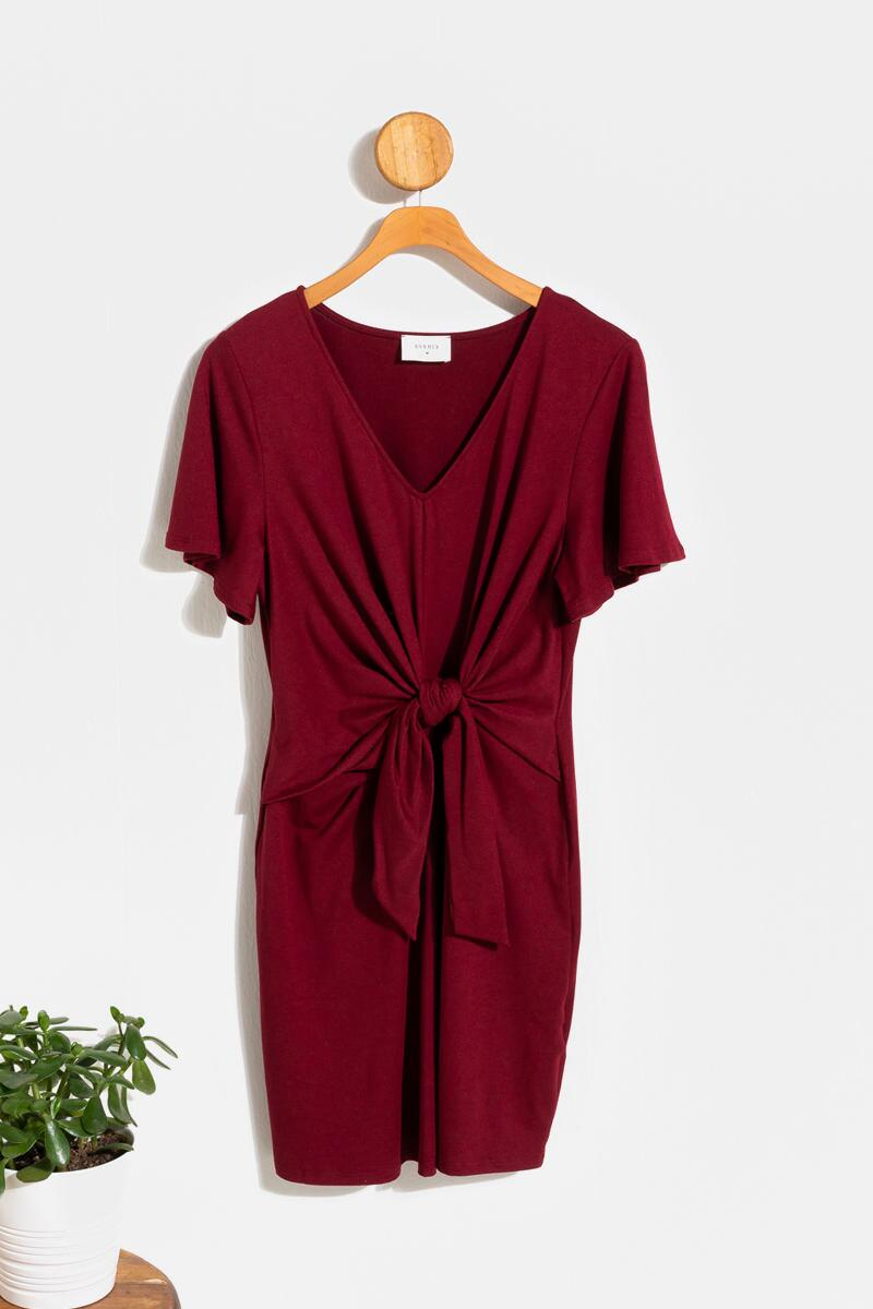 Kamren Front Tie Knit Mini Dress