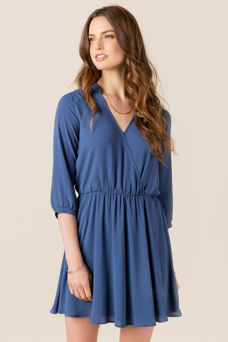 Lush Farrah Solid Shirt Dress-  indg-cl