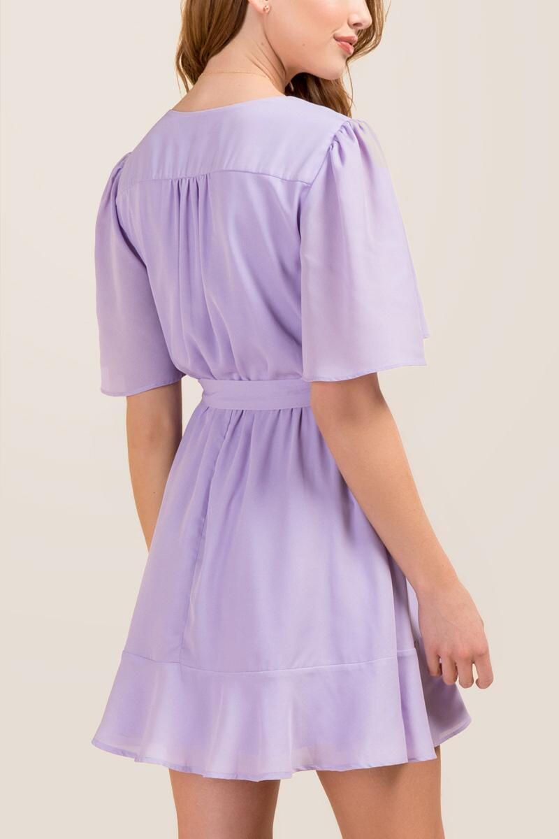 Elina Surplus Tie Waist Ruffle A-line Dress-  orch-clback