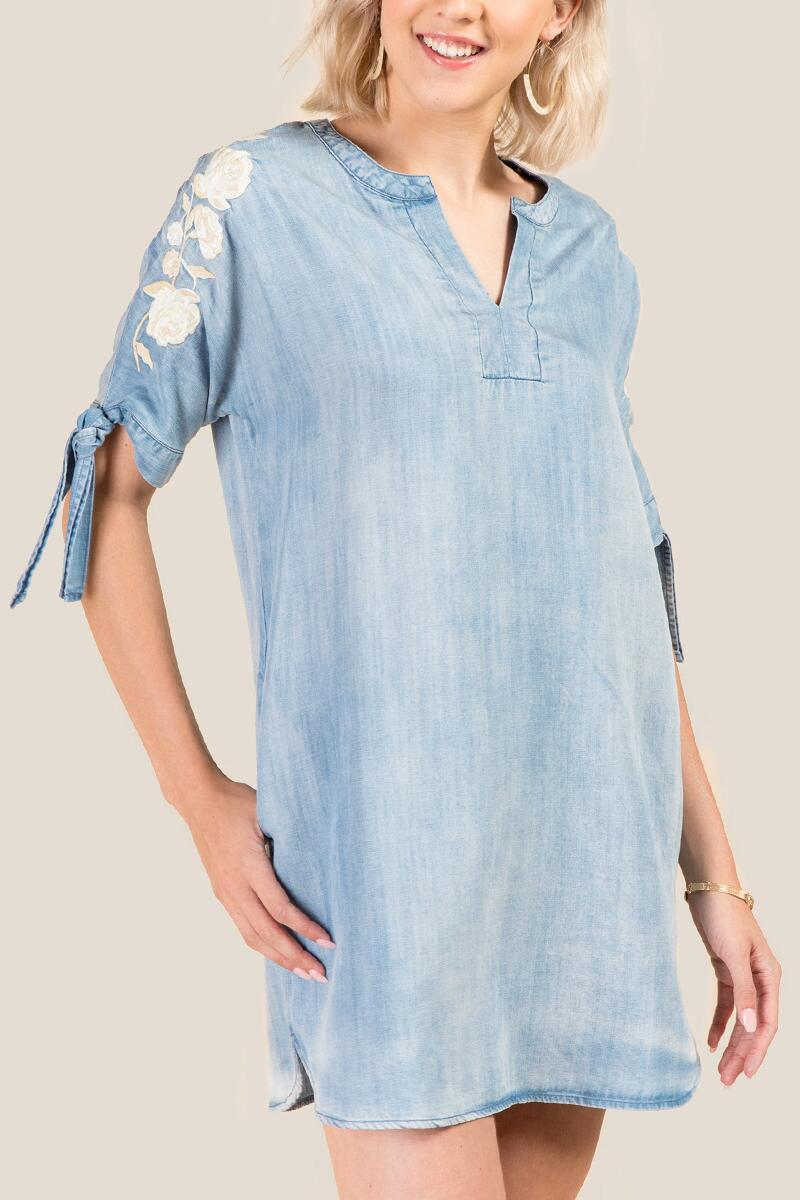 Emersyn Embroidered Shift Dress