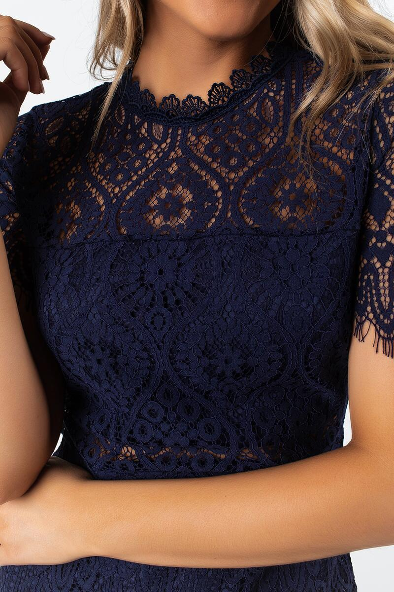 Malorie Lace Midi Dress-navy-cl 3