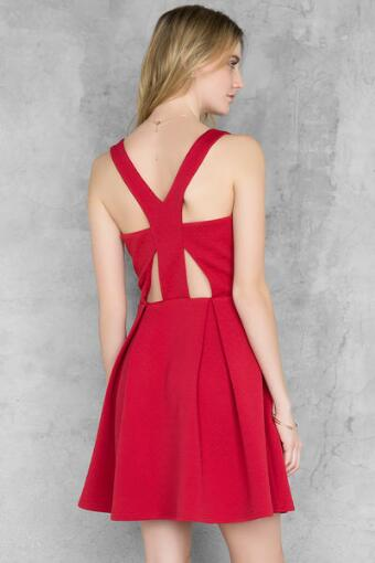 Roxy Cut Out Skater Dress