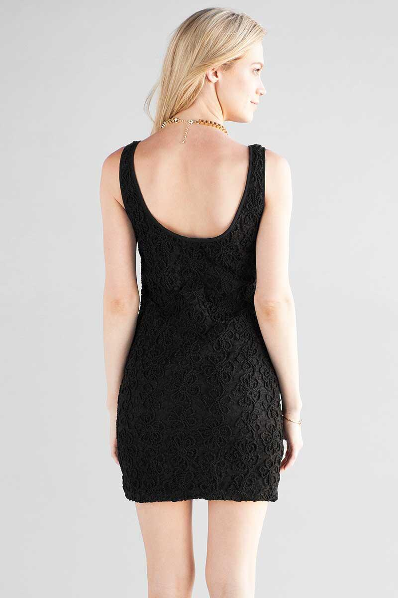 Rosyth Lace Dress-  blk-clback