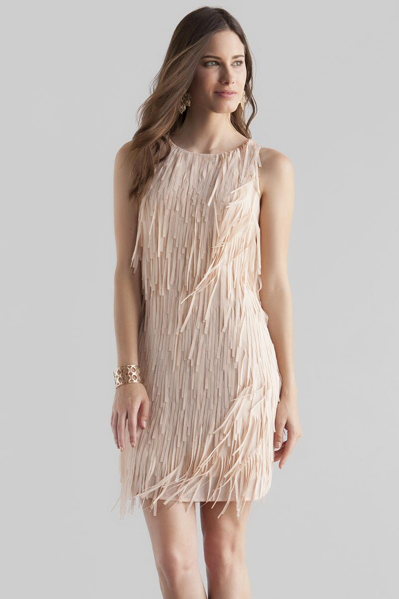 Sydney Fringe Dress-  kaki-cl