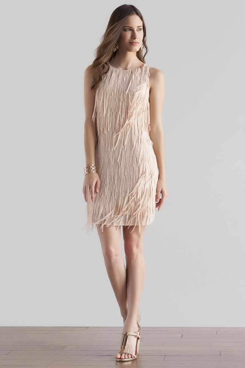 Sydney Fringe Dress-  kaki-clmodel