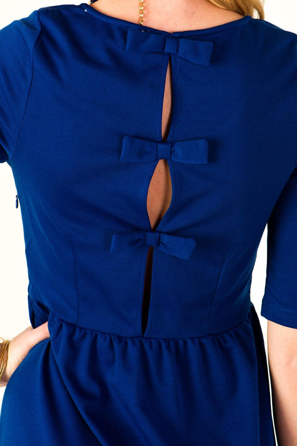 Peek-a-Bow Dress-  bluedetail
