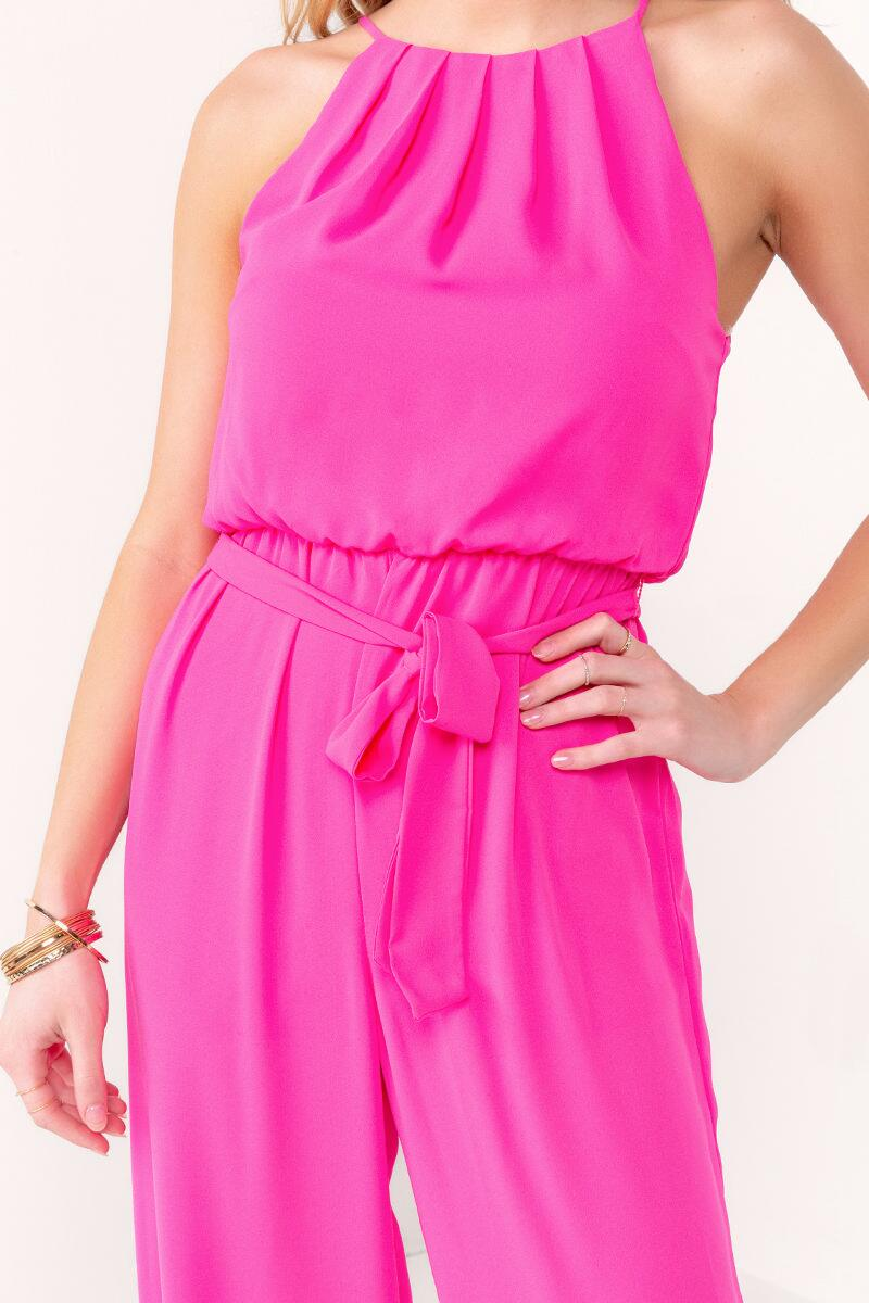 Flawless Solid Jumpsuit-  npink-cl3