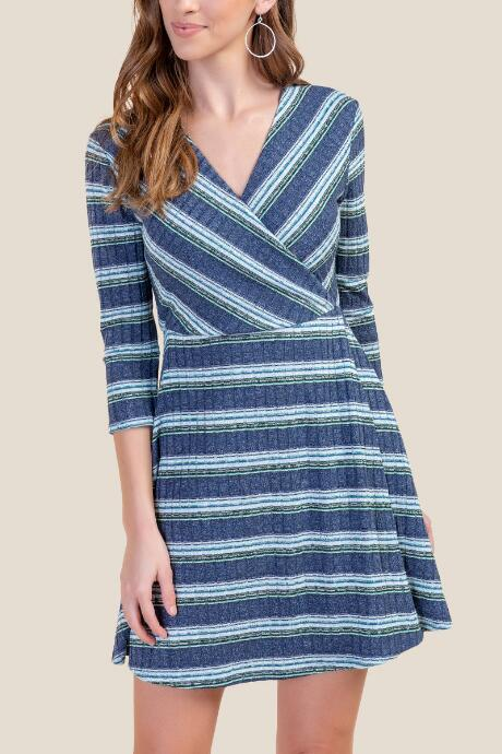fccef9bfd482 Kiley Rib Knit Wrap Dress