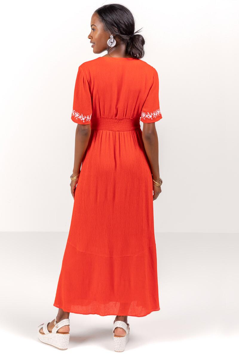 Giselle Embroidered Maxi Dress-  bred-cl2