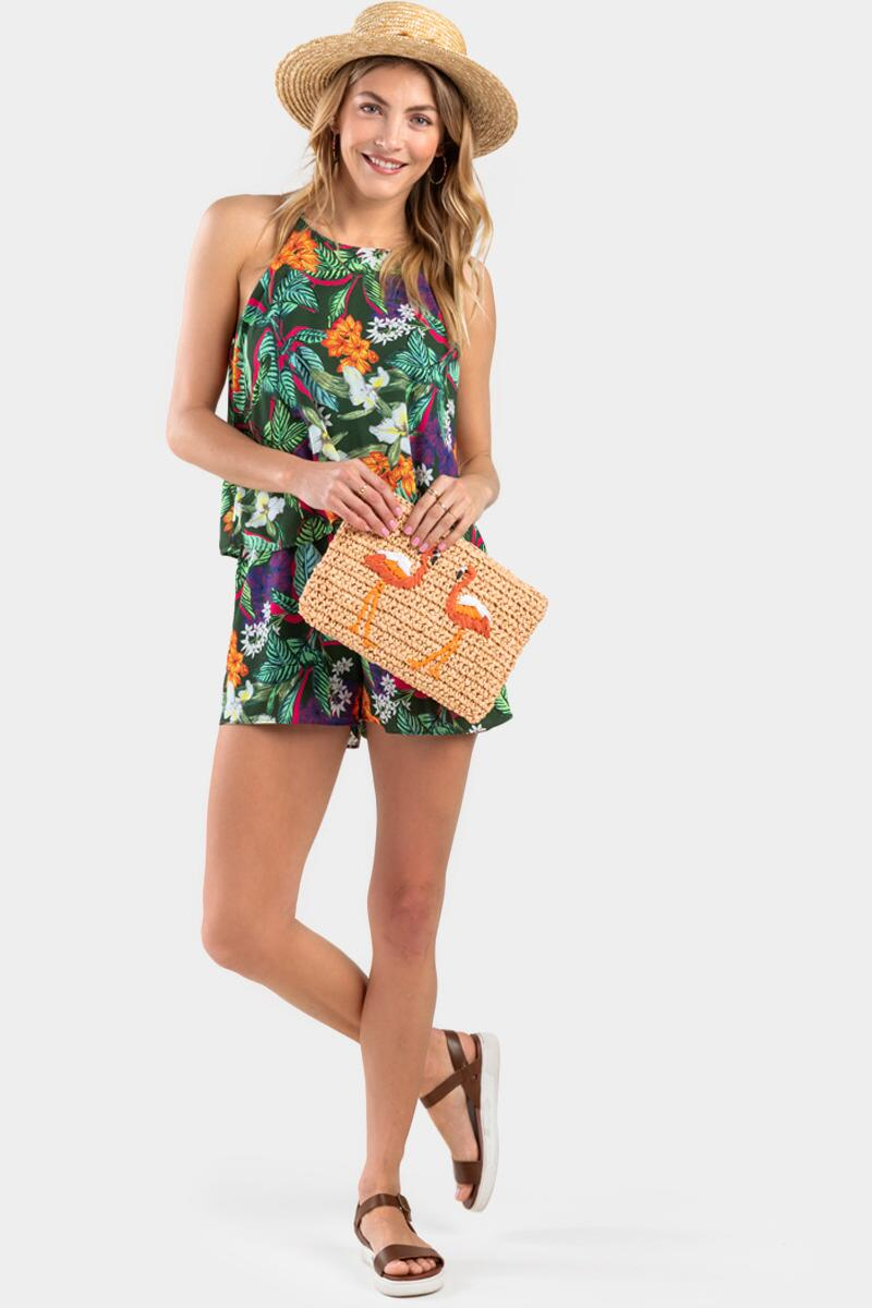 Sabryna Floral Layered Romper-  mult-cl2