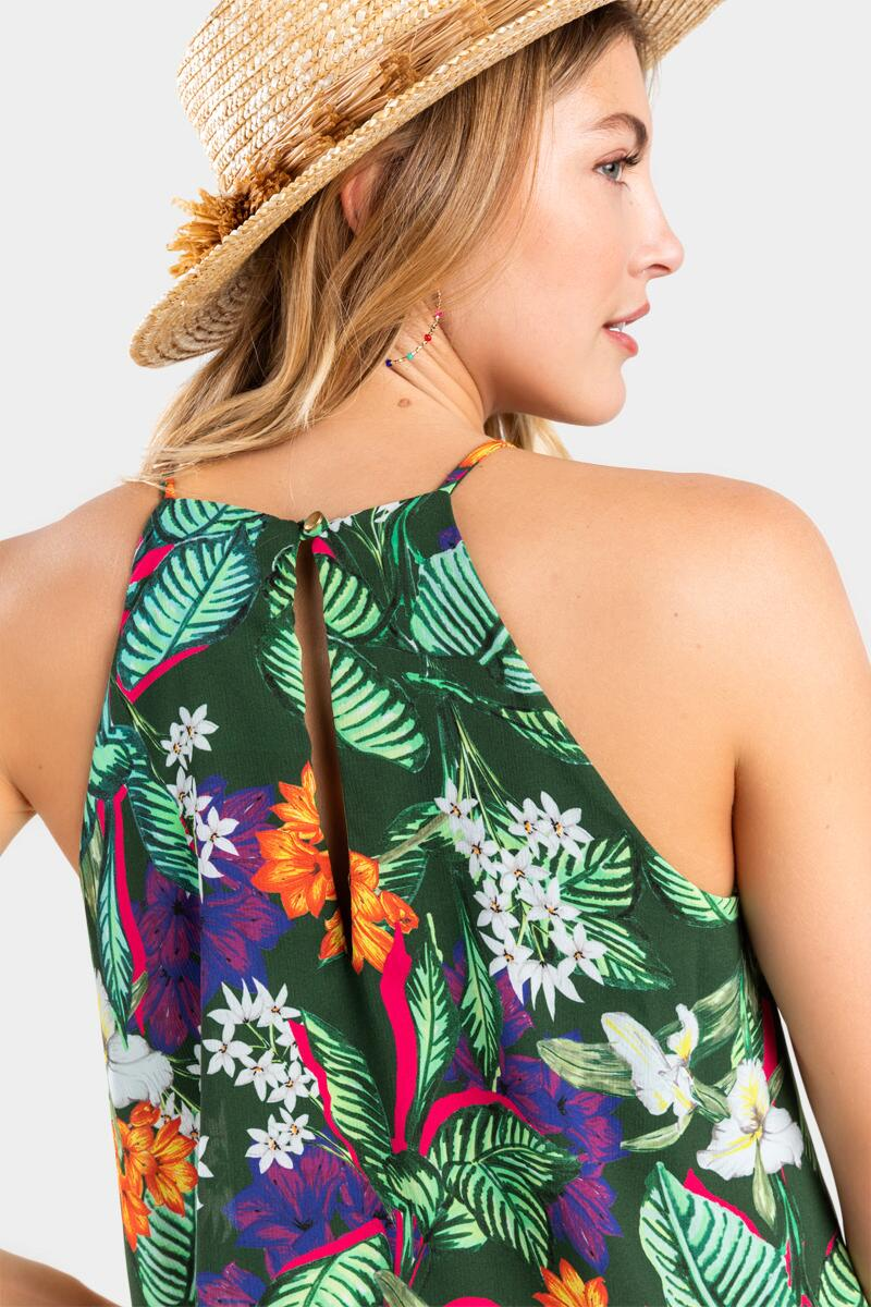 Sabryna Floral Layered Romper-  mult-cl4