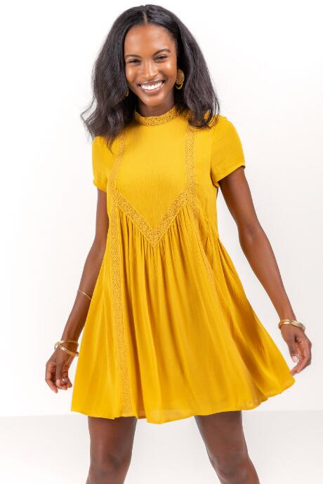 Delane Shift Dress in Marigold