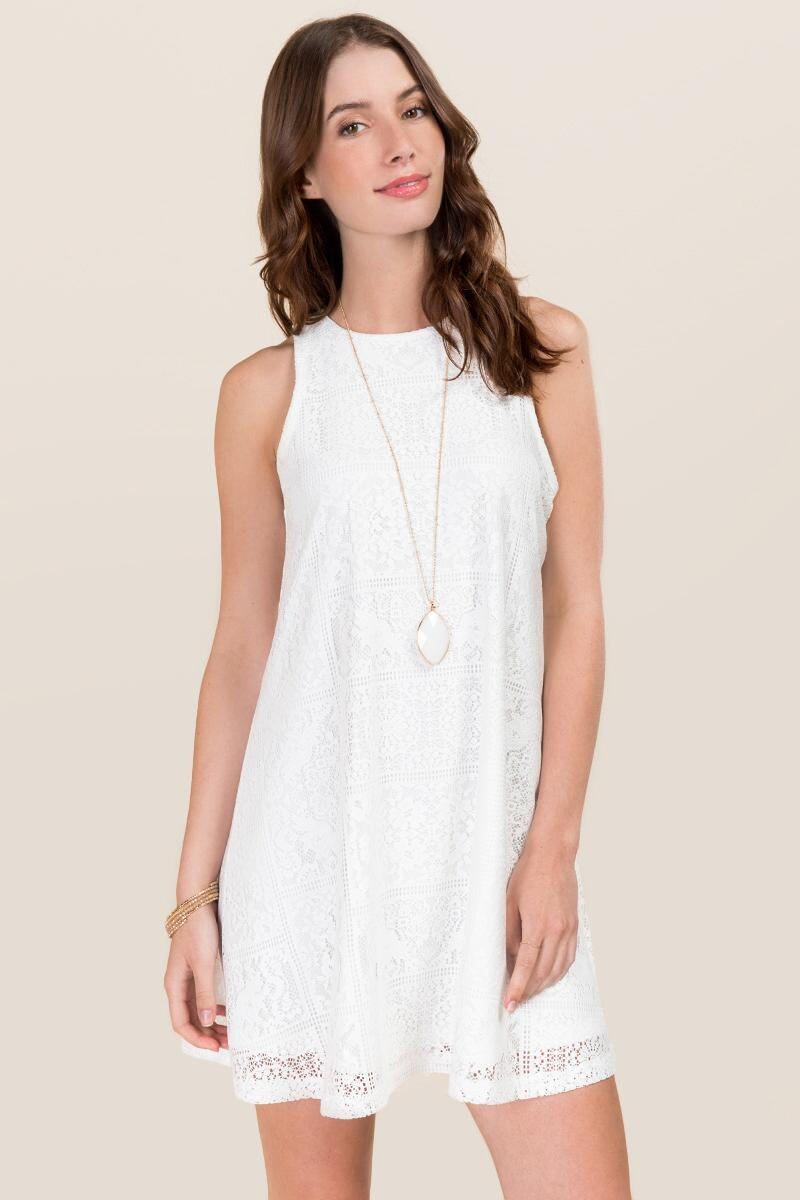 Odette Lace Shift Dress