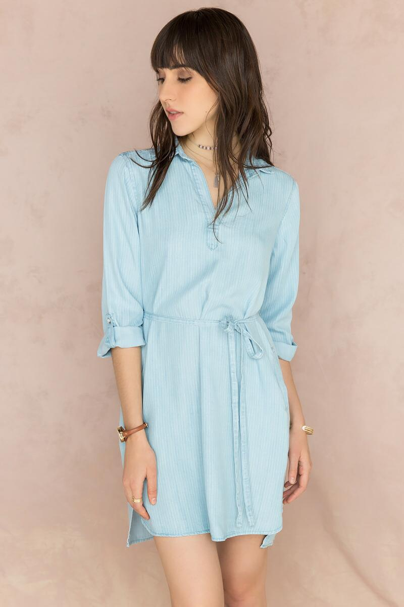 Sophia Chambray Shirt Dress