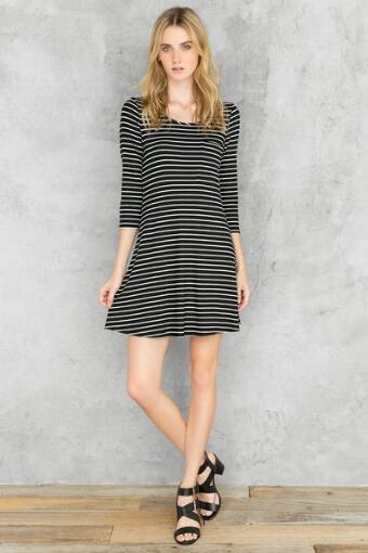 Martha Bow Back Striped Dress