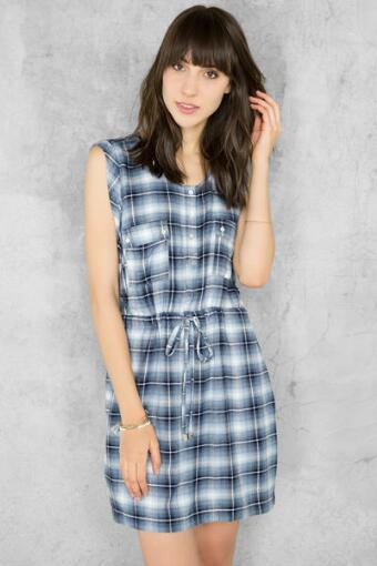 Georgia Plaid Shirt Dress