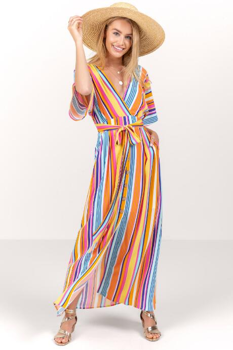 Alessia Striped Maxi Dress