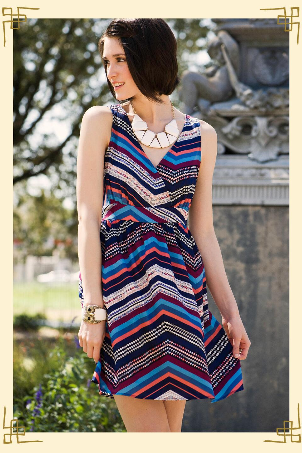 Lombard Street Dress-  blueindexlocation