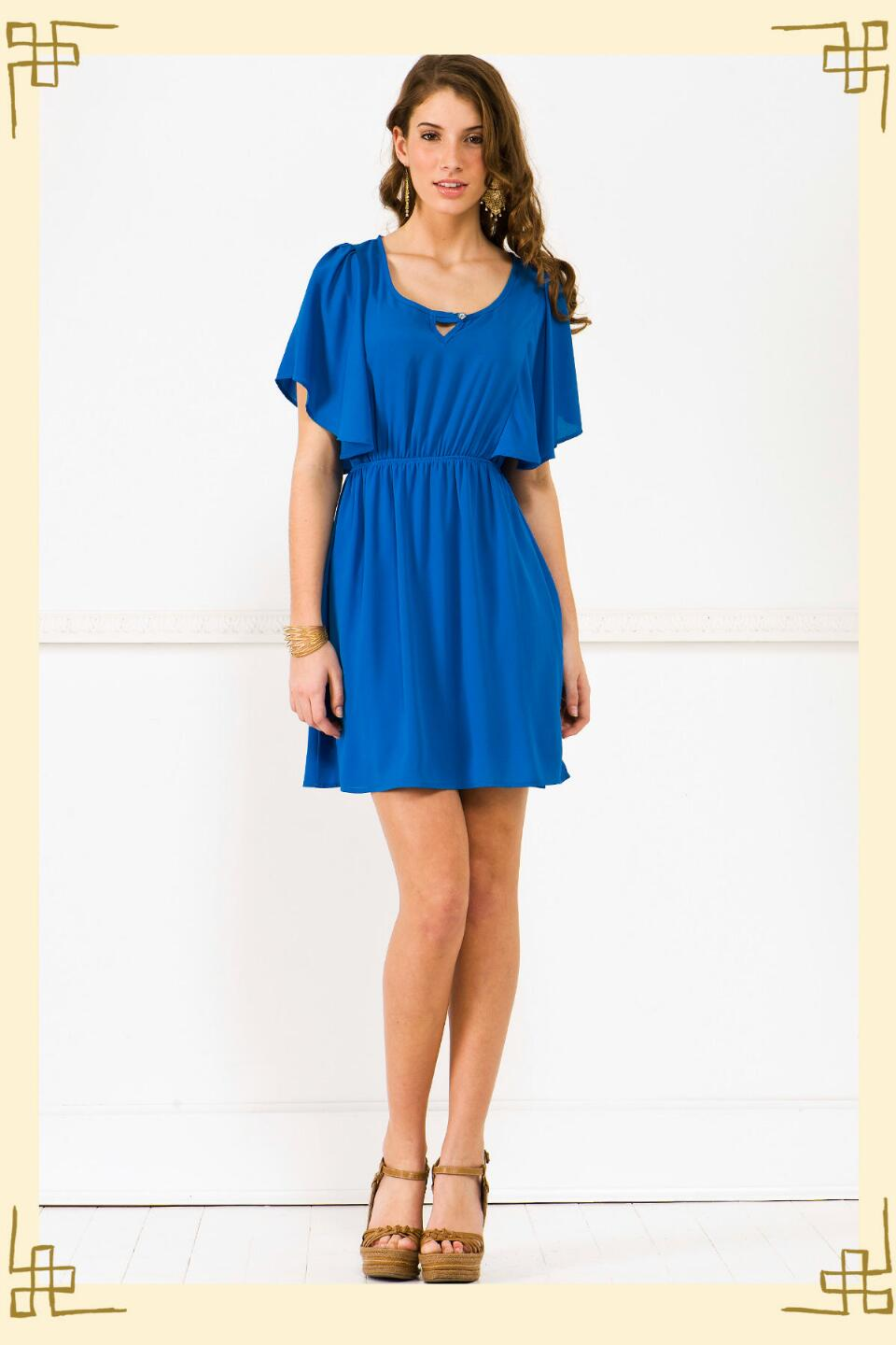 Butterfly Effect Dress-  blue