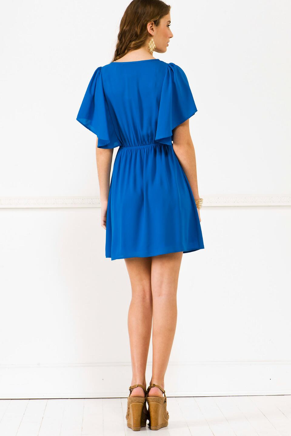 Butterfly Effect Dress-  blueback