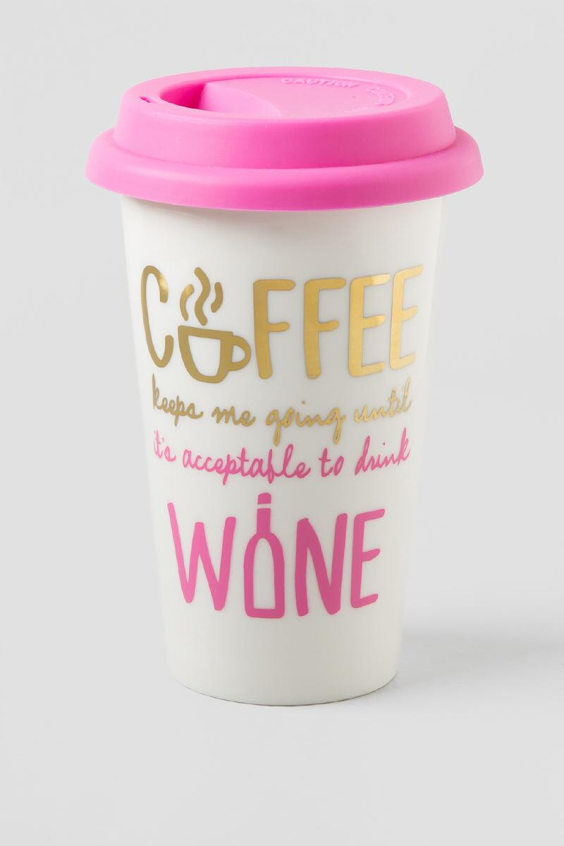 Coffee Until Wine Travel Mug