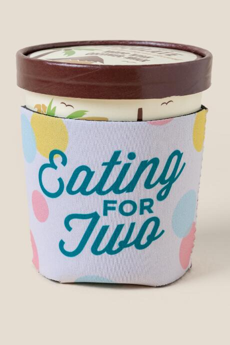 Eating for Two Ice Cream Coozie