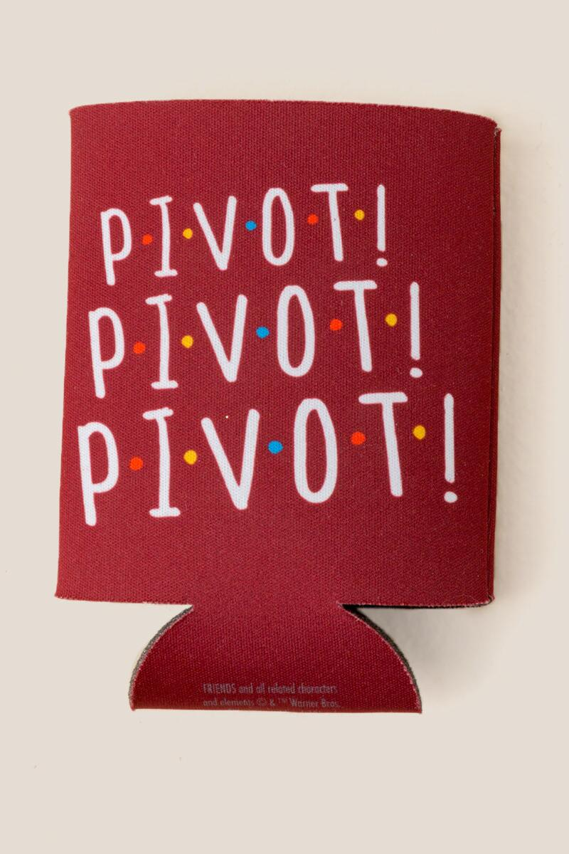FRIENDS Pivot Koozie- Red gift-cl