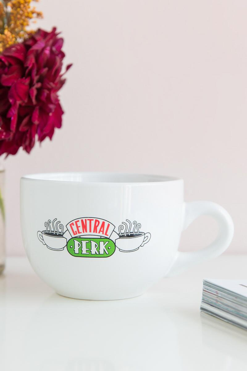 FRIENDS the TV Series Central Perk Soup Mug-  white-cl