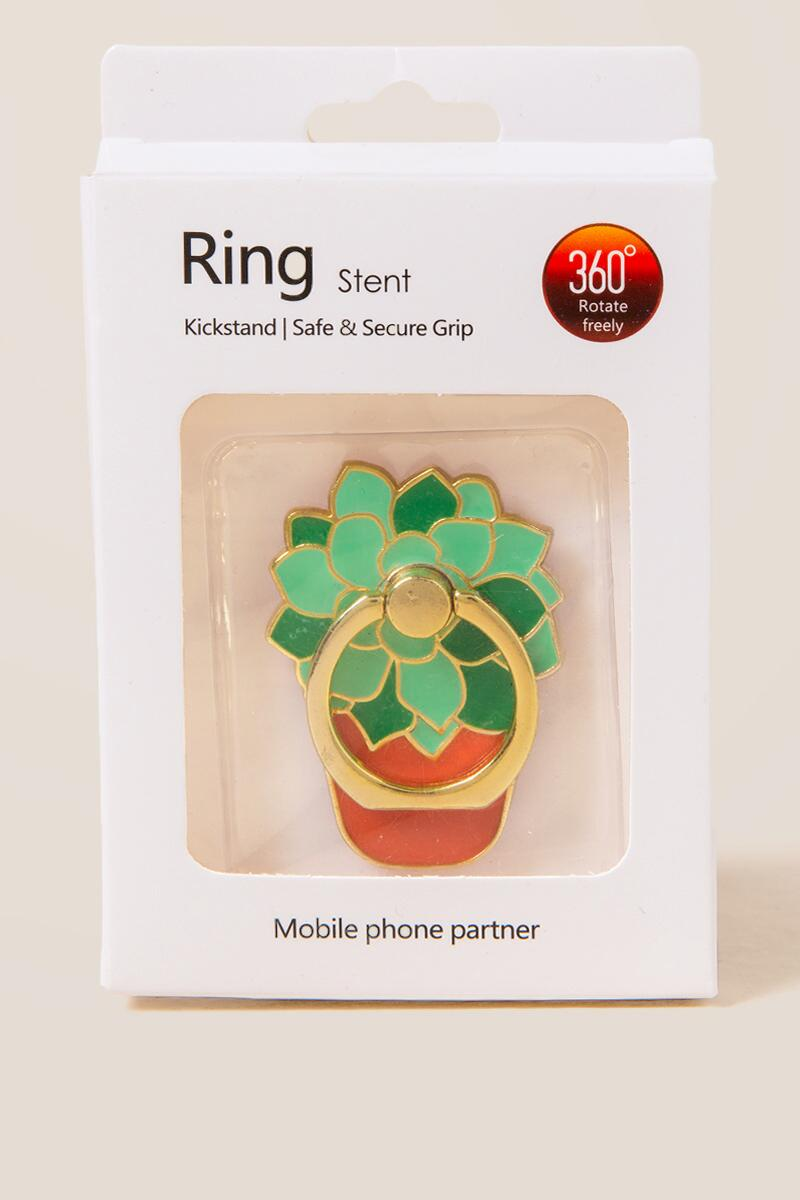 Succulent Phone Ring Stand