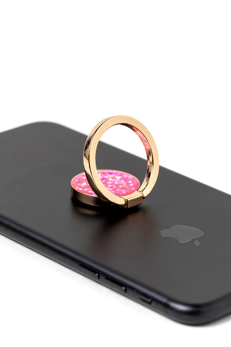 Pink Sparkle Phone Ring-  pink-cl