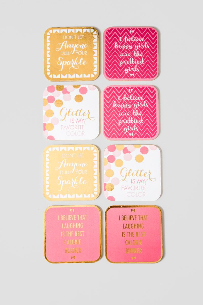 Pink & Gold Coasters-  gift-clalternate2