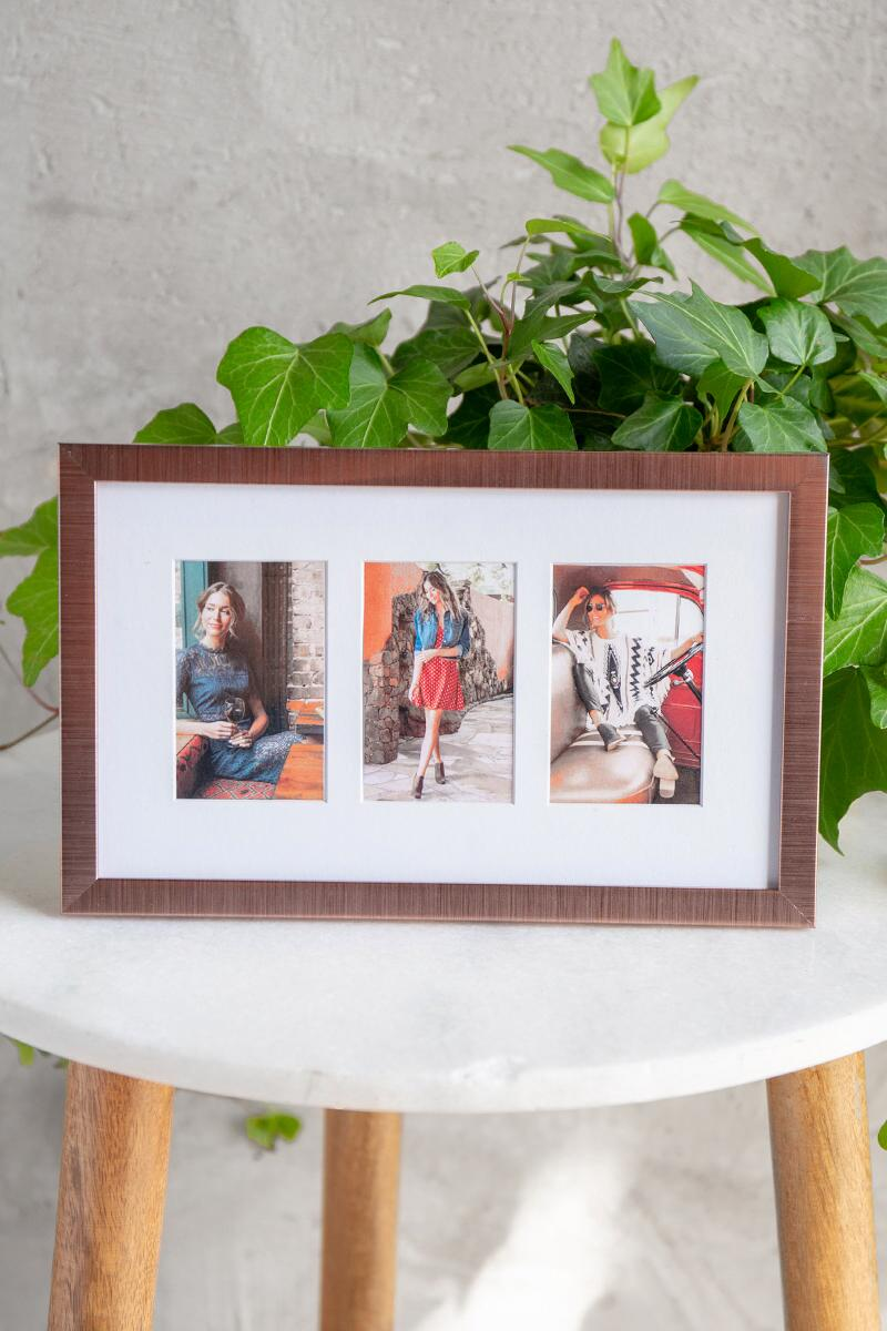 Copper Instapix 3 Photo Frame