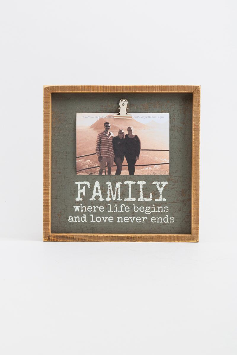 Family Where Life Begins Inset Box Frame
