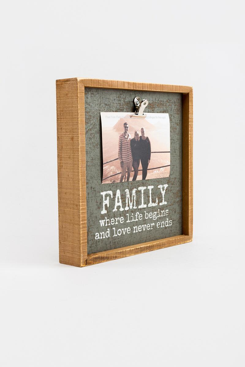 Family Where Life Begins Inset Box Frame-  nocolor-cl2