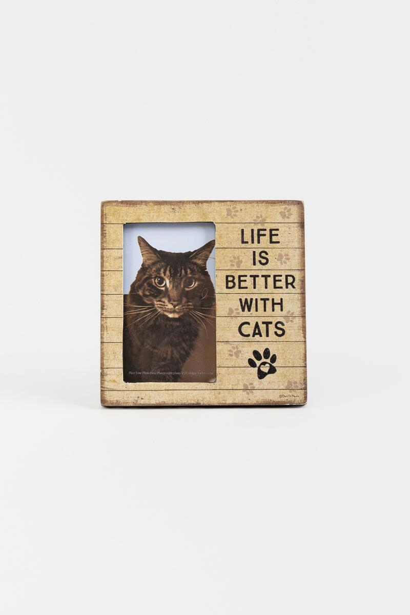 Life Is Better With Cats Plaque Frame-  nocolor-cl