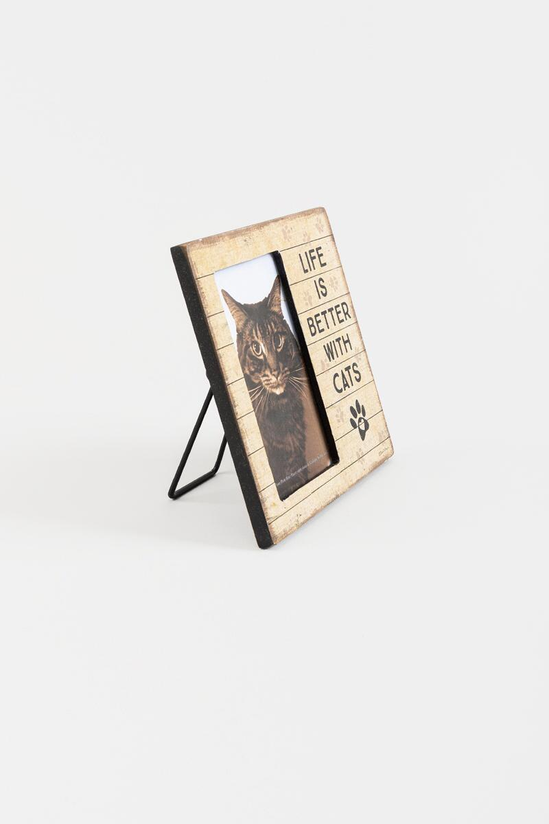Life Is Better With Cats Plaque Frame-  nocolor-cl2