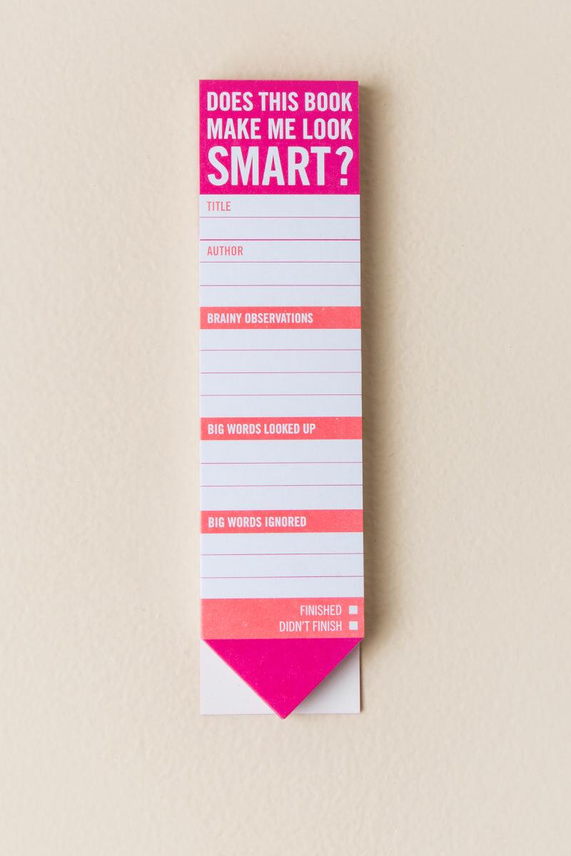 Does This Make Me Look Smart Bookmark-  gift-cl