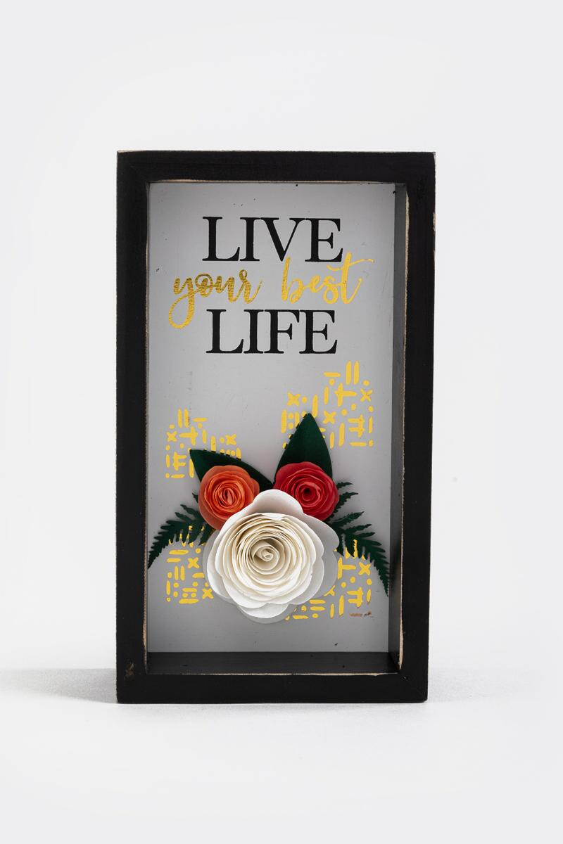Live Your Best Life Box Sign- Black
